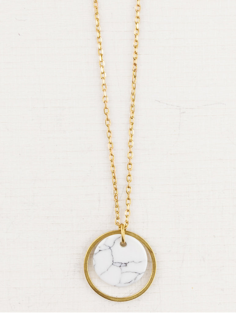 Circle and Marble Necklace