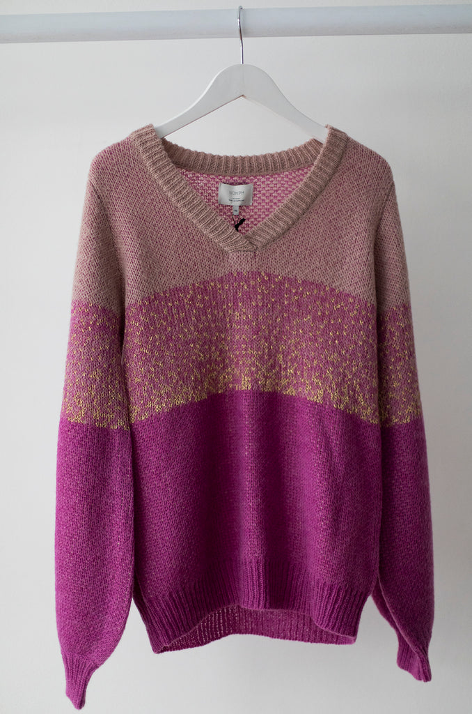 Naamah V Neck Sweater Orchid