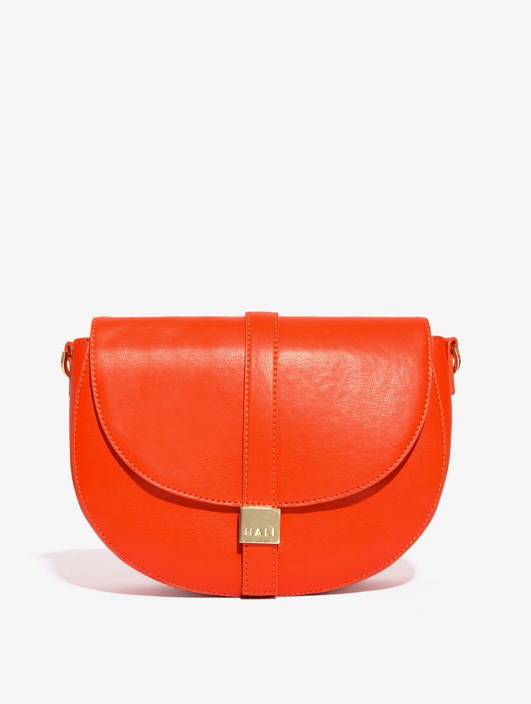 Orange Cross Body Saddle Bag