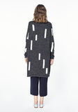 Long Cardigan with Graphic Stripes
