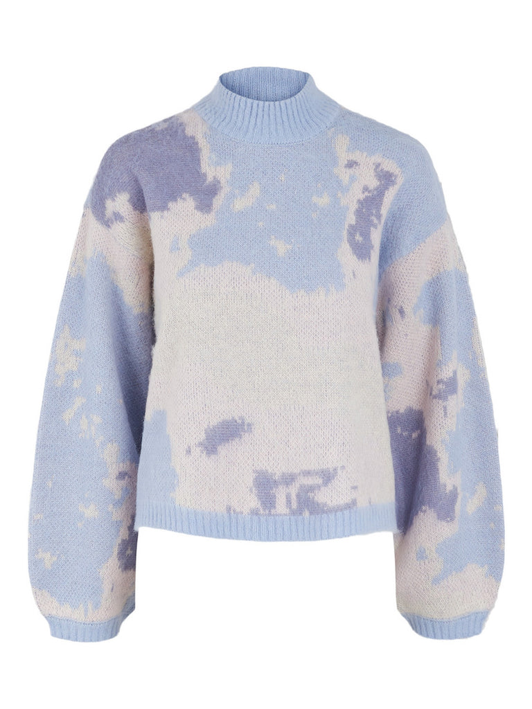 Sky High Neck Knit Kentucky Blue