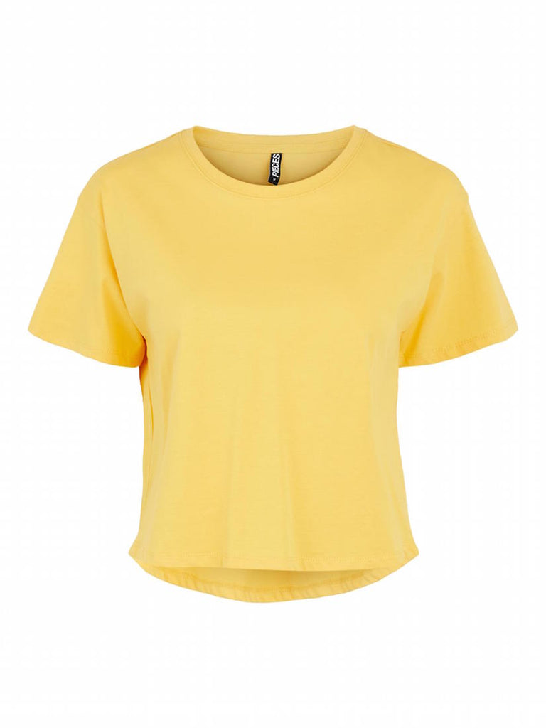 Taxanna Short Sleeve Cropped Tee Banana