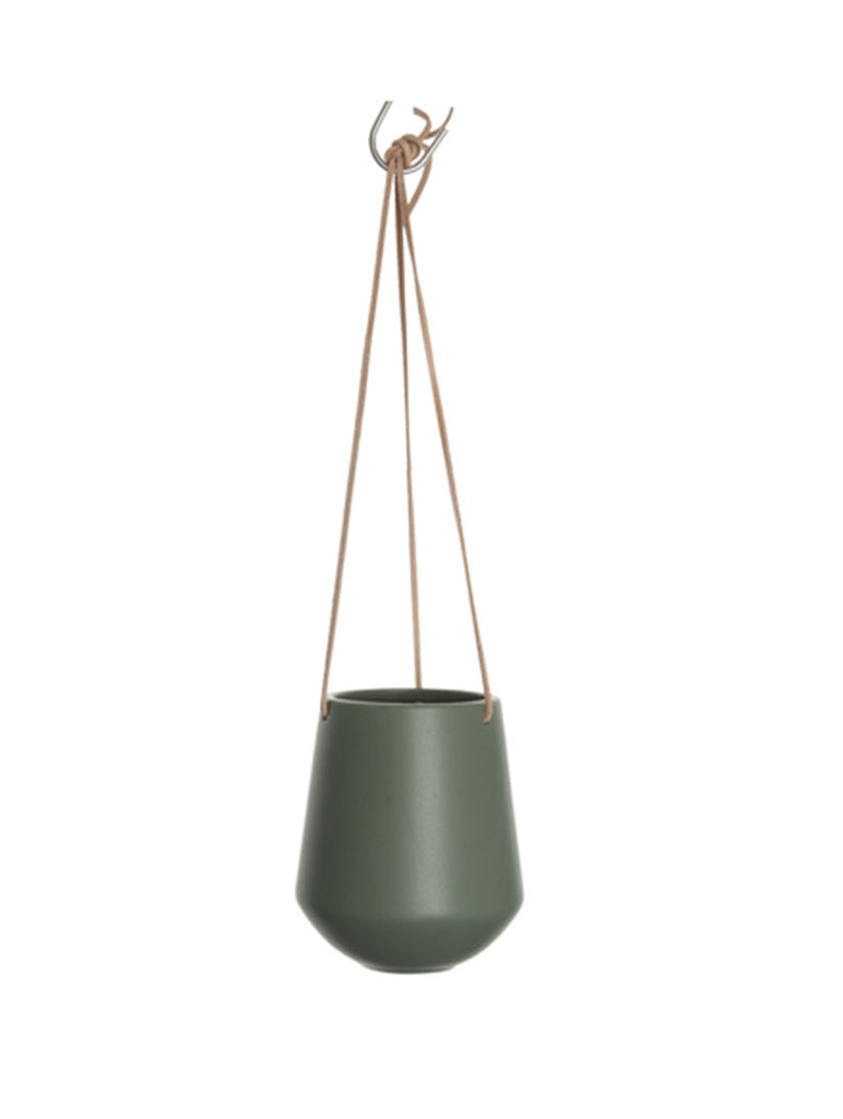 Hanging Pot Large Matt Green