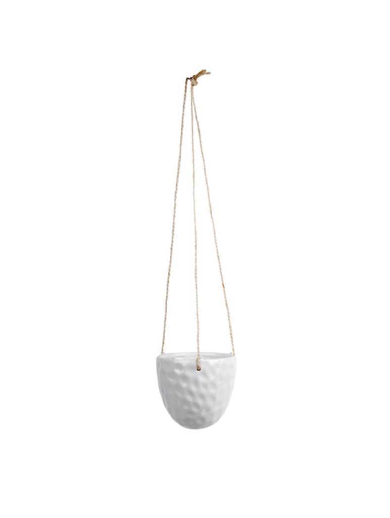 Hanging Pot Burly White