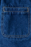 Hea A-Line Denim Skirt Dark Blue