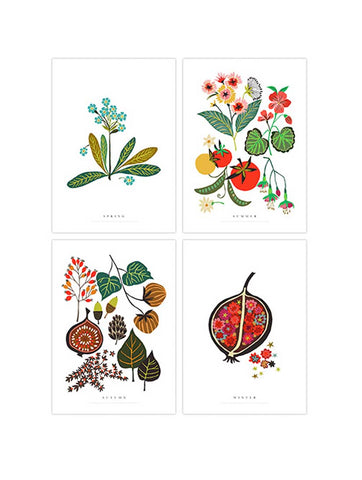 Seasons Postcard Set