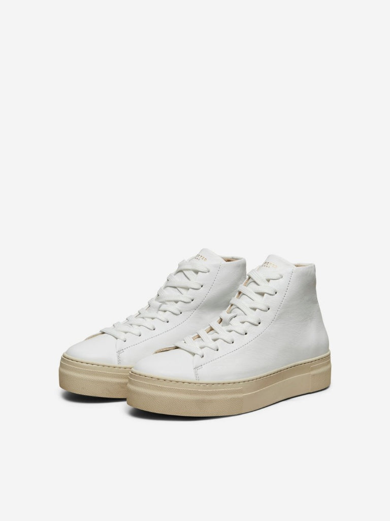 Hailey High Top Trainer White