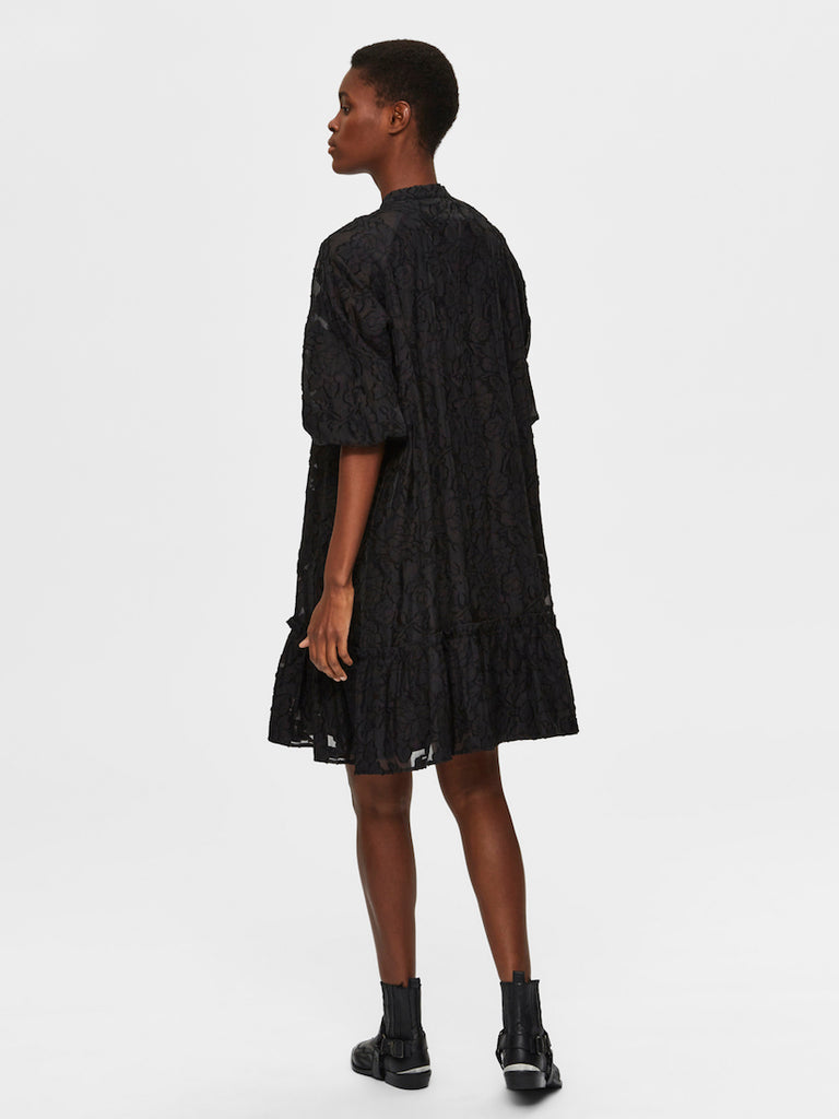 Sadie 3/4 Short Dress Black