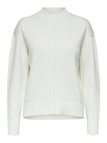 Kisa Knit Crew Neck Snow White