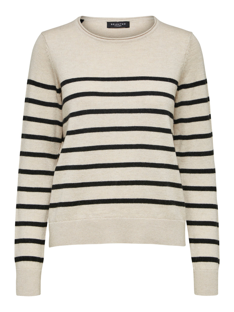 Inka Cashmere Knit Stripe Sweater Birch