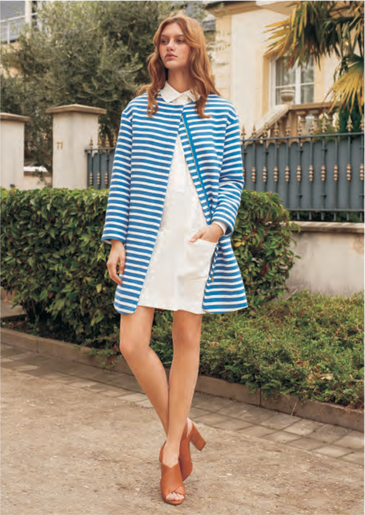 FRNCH Classic blue and white stripe jacket