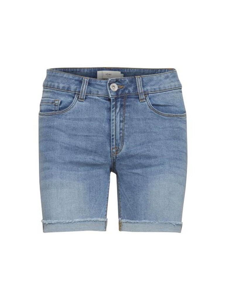 Hilora Destroyed Shorts Mid Blue
