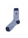 Anchor Socks Light Blue