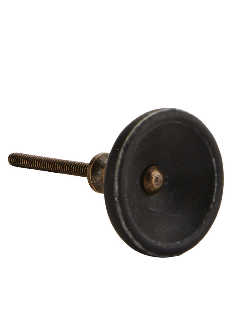 Matt Black Porcelain Door Knob
