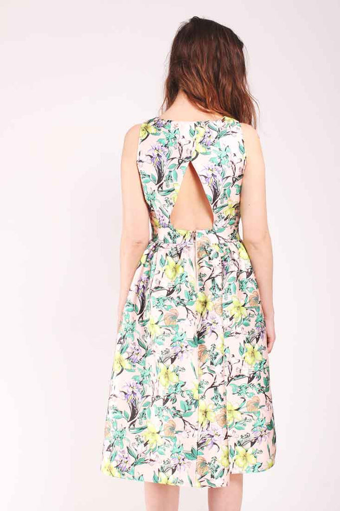Louche Luxe Tully Botanical floral dress pink