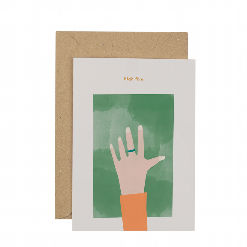 High Five Greetings Card