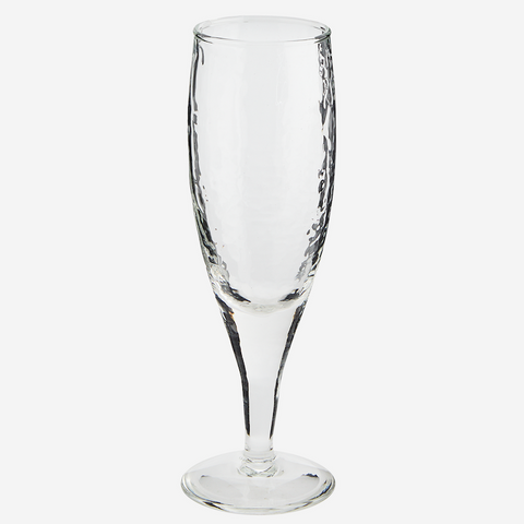 Hammered Champagne Glass
