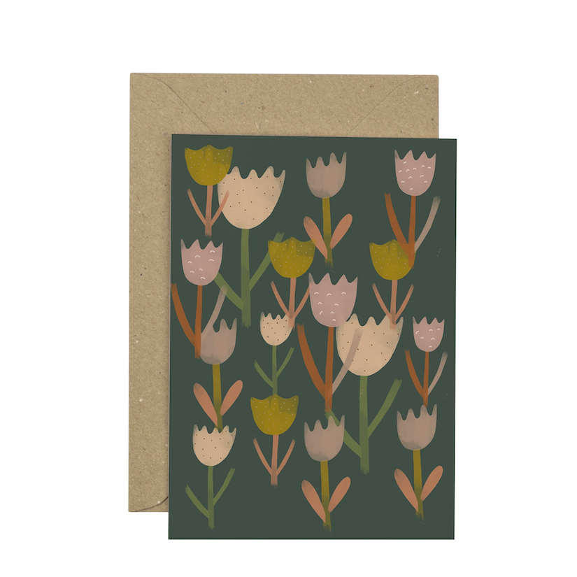 Tulips Greetings Card