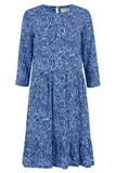 Nora Smock Dress Blue Waves
