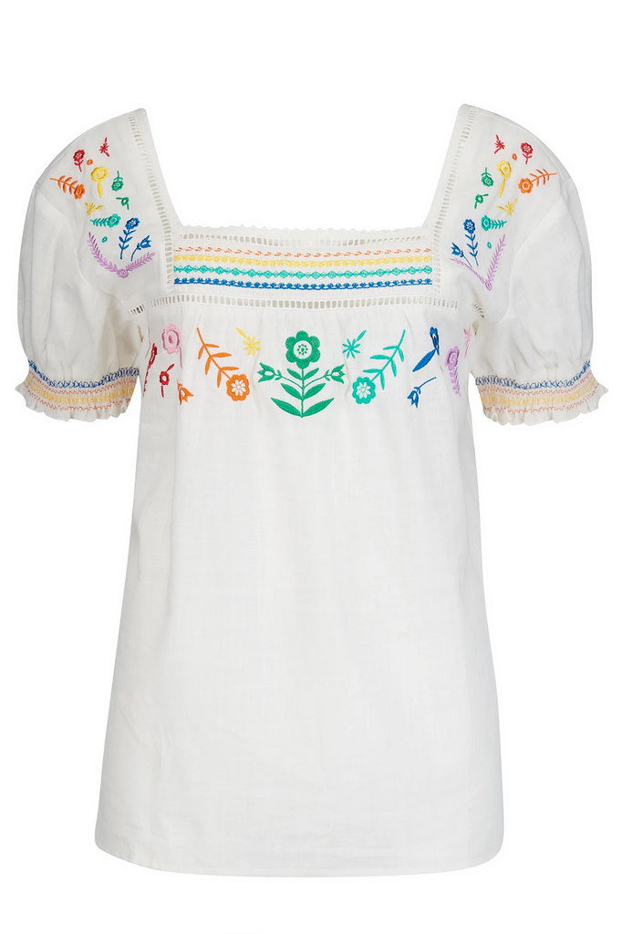 Alva Embroidered Top