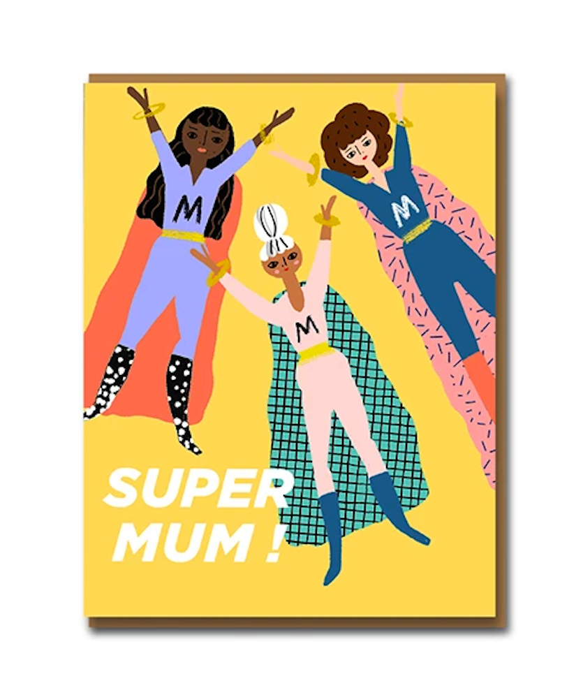 Super Mum Greeting Card