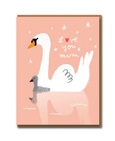 Swan Mum Greeting Card