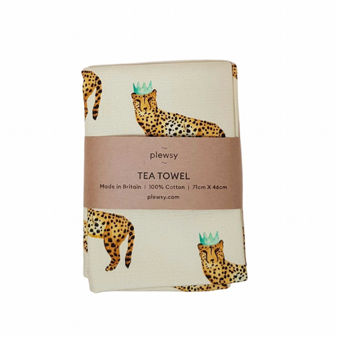 Cheetah Print Tea Towel
