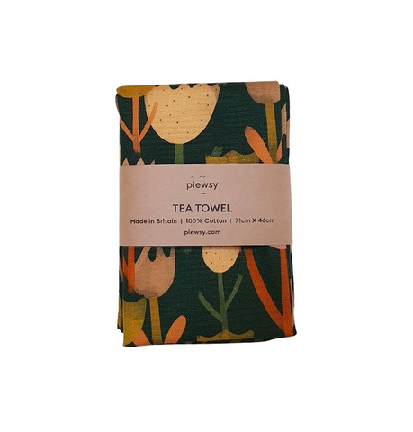 Tulip Print Tea Towel