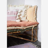 Striped Cotton Mattress Rose and Dark Grey