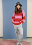 Avery Brushed Knit Jumper Red