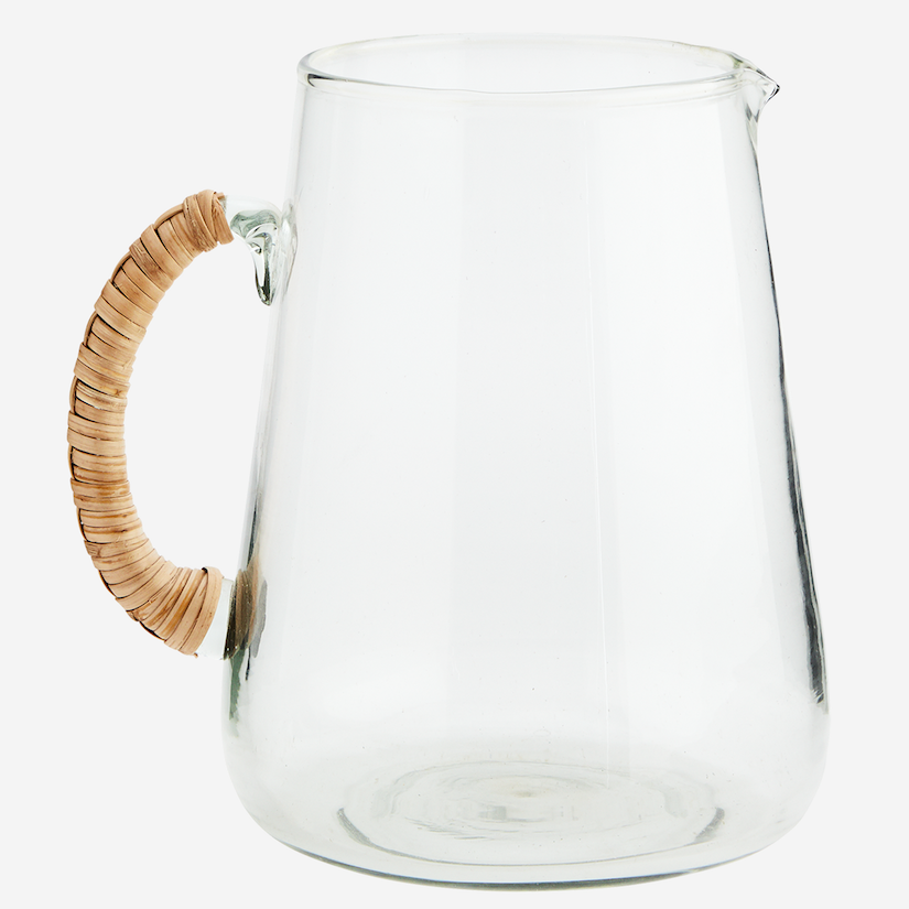 Glass Jug with Bamboo Handle