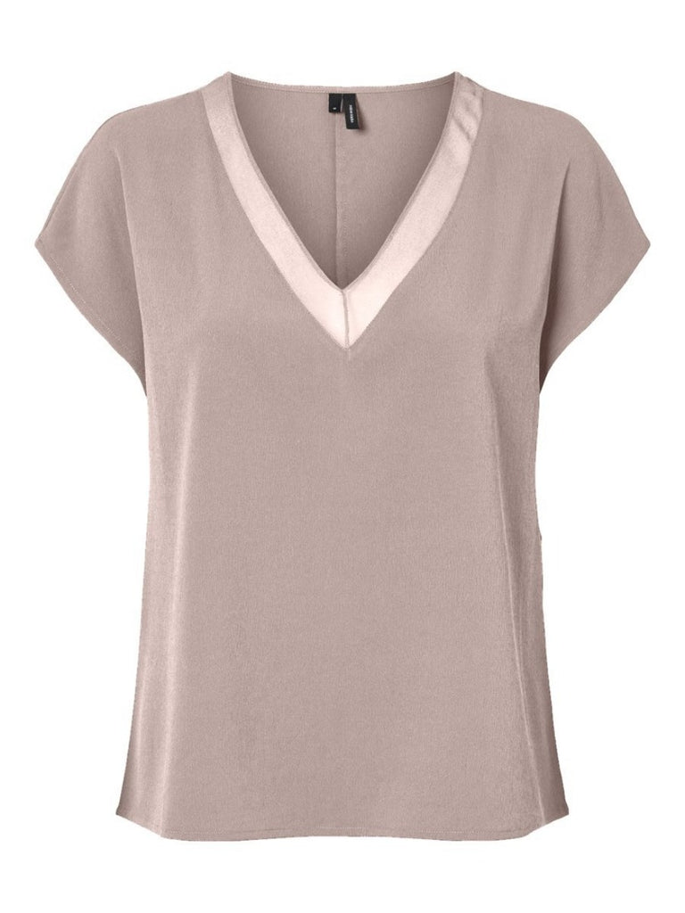 Willow V Neck Top Shadow Pink