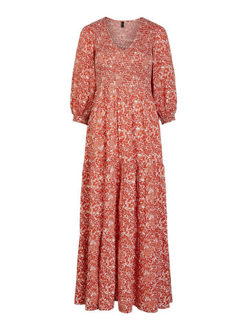 Damask Long Dress Whisper Pink