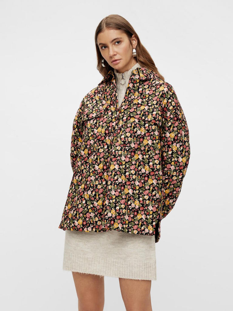 Rosalia Long Sleeve Padded Shacket