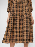 Chia 3/4 Dress Black Check