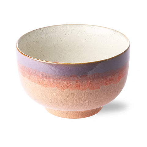 Ceramic 70's Noodle Bowl Sunset