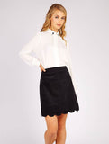 Alicja Cord Skirt Black