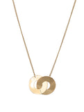 Gold Anna Entwined Circles Necklace