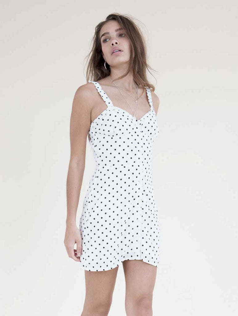 Annette Slip Dress White Spot