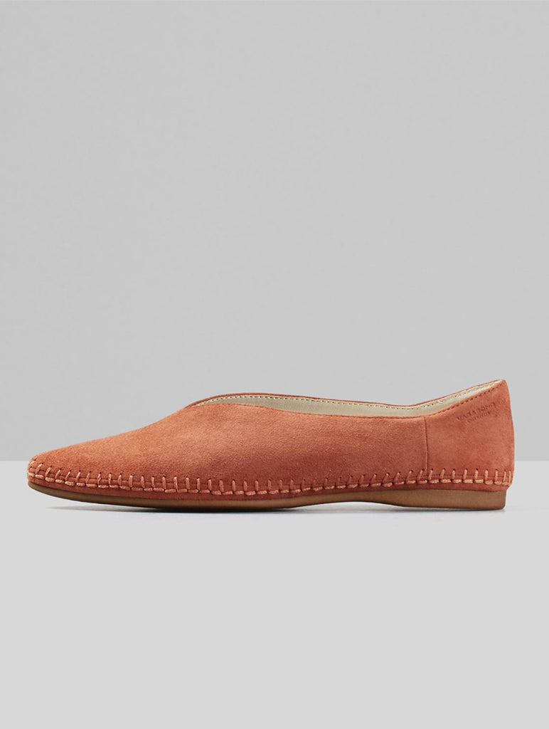 Antonia Goat Suede Shoes Terracotta