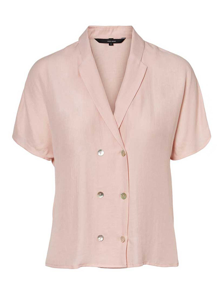 Anya Short Sleeve Shirt Sepia Rose