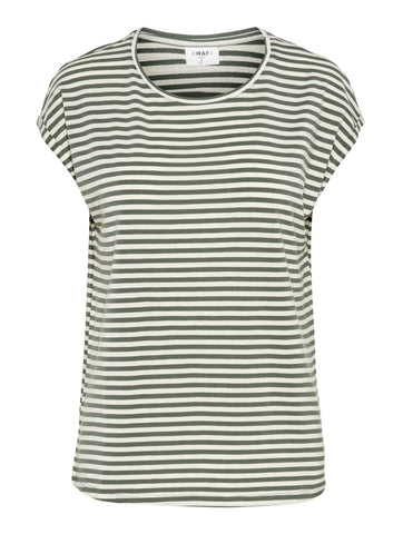 Ava Stripe Tee Laurel Wreath