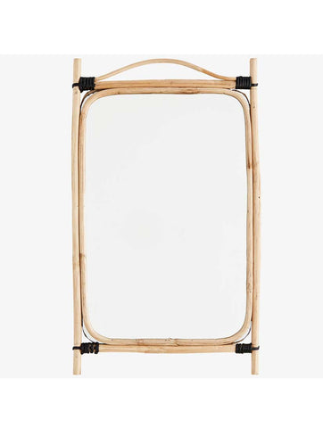 Rectangular Mirror With Bamboo Frame Natural / Black