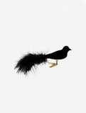 Black Velvet Bird With Clip