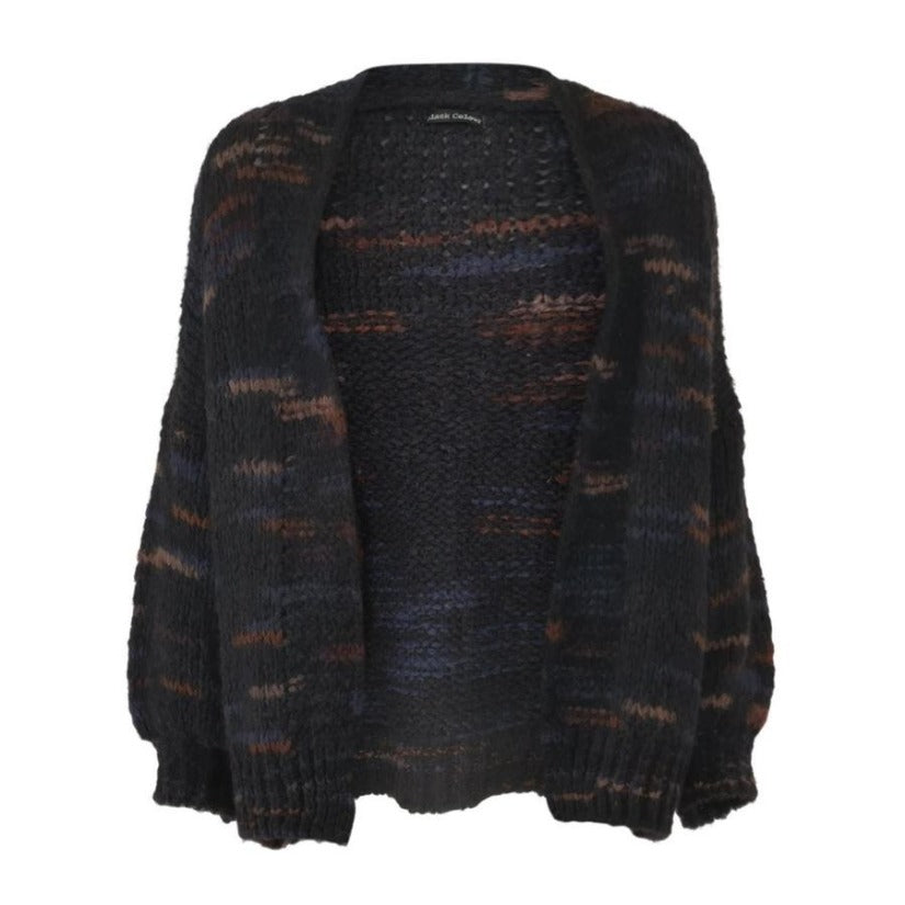 Belle Wool Mix Knit Cardigan Black