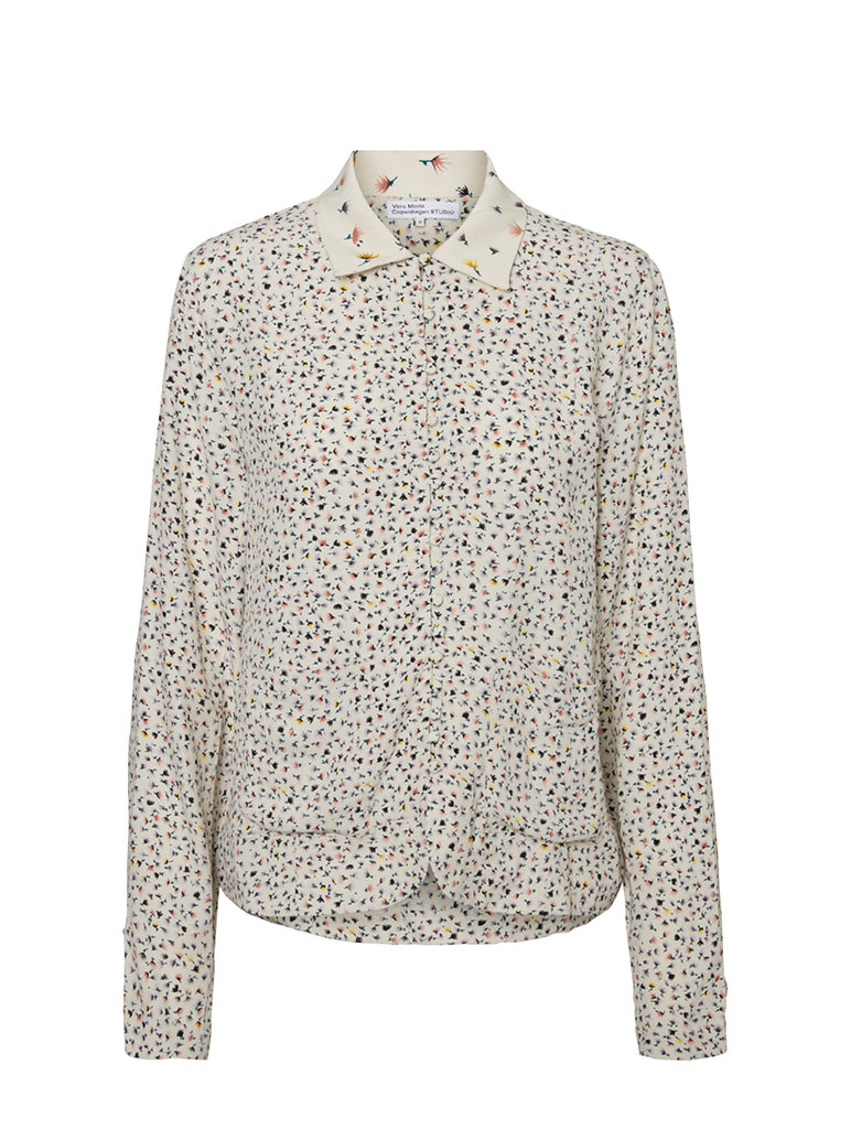 Vivi Floral Printed Shirt Birch