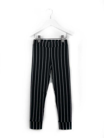 Data Black Stripe Leggings