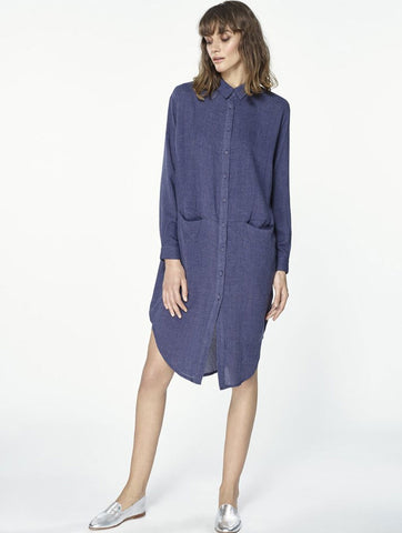 Shirt Dress Blue