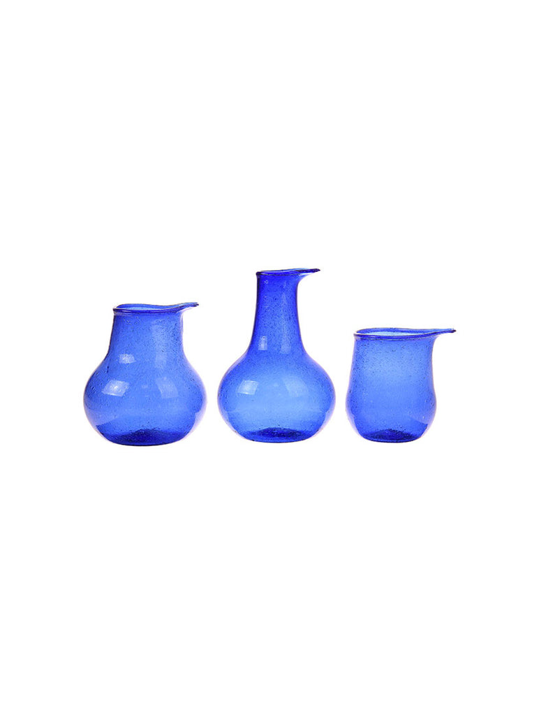 Recycled Glass Vase Cobalt