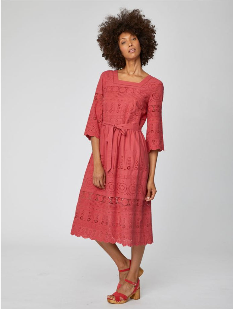 Briony Organic Cotton Embroidery Anglais Dress